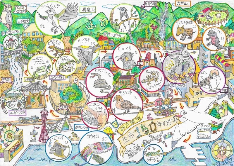 中学生の部_環境大臣賞『神戸開港・生命150年の歩み~海と山と都市に生きる~』
